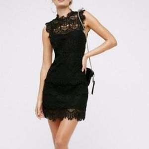 Free People Sexy lace open back black  dress